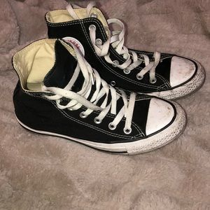 Decently new high top black converse